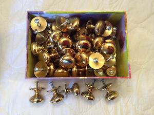 Solid brass cabinet knobs & electrical switches and plugs