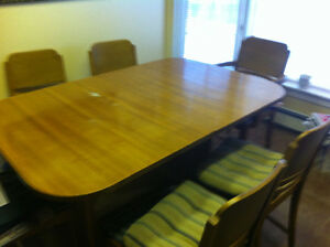 Solid Wood Table and (6) chairs