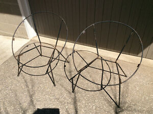 SUPER RARE Pair of John Hauser Hoop Chair Frames with Armrests