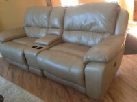 3 Piece Leather Recliner Couch