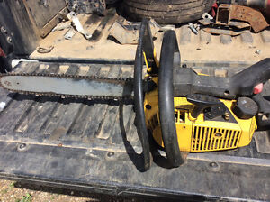 """McCullough CHAINSAW 16"""" BAR NICE OLD SAW!!!"""