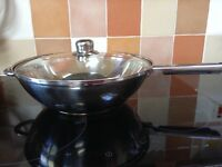 Wok with lid (Marks and Spencer)