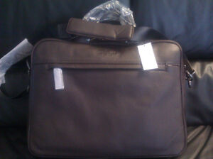 NWT Leather Briefcase by Banana Republic (Brand New)