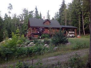 log home with 1200 ft lakefront