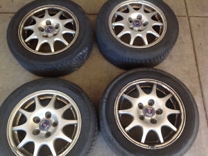 Saab 15 inch rims and tyres 195/60r15