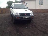 MITSUBISHI L200 CREW CAB PICK UP 65,000MILES NO VAT