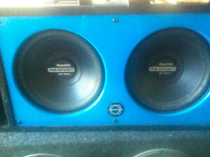 Subwoofer + Box + Amplifier + Capacitor