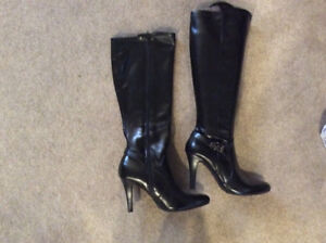 Almost new black tall boots