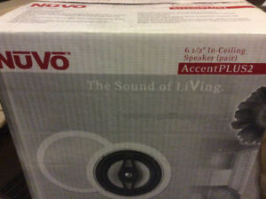 "Nuvo Accent Plus2 6.5"" in ceiling speakers (pair)"