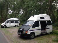 "Ford transit campervan 4 berth with log burner 32"" tv LOOK solar"