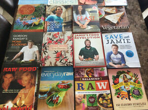 Cookbooks lots of titles $10each for most titles, hardcovers too