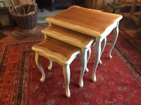 Shabby chic upcycled nest of tables