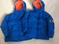 2 x GAP BOYS COATS TWINS SUPER WARM PUFFER JACKETS AGE 8-9 SIZE 8 to 9 EXCELLENT CONDITION