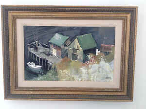 1960s Oil Painting  titled Aspotogan by Adrian Dingle