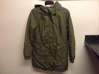 Ladies parker style coat, size 10 excellent condition as new