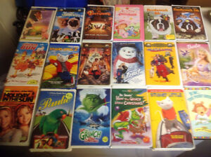 Clamshell VHS Movies - Kids/Family favourites cheap or trade