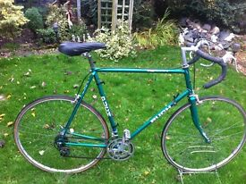 "Retro puch road bike 25"" frame ideal 6ft plus rider"