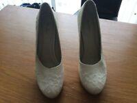Rainbow wedding shoes size 4