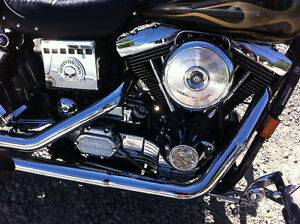Harley Davidson Custom Cruiser Show Bike Dyna Wide Glide Peterborough Peterborough Area image 2