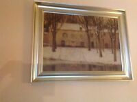 Country wood scene Picture / Image / Atmospheric Wall art paid £135 AS NEW ONLY 2 MTHS