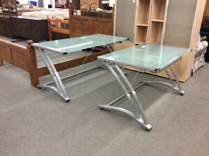 Glass and Steel Desk