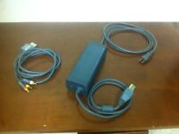 Xbox 360 power adapter adaptor and composite video cables