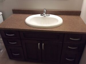 Laminate Countertop with Sink and Faucet