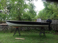 12' Aluminun Boat with 9.9 Mercury Outboard