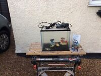 Nano complete tropical aquarium fish tank set up