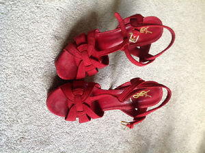 YSL Red Tribute Sandal Size 40