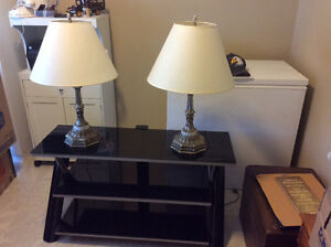 TV Stand & Lamps