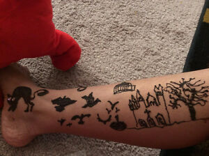halloween henna tattoo/heena tatto/ tattoo/mehandi tattoo Regina Regina Area image 10