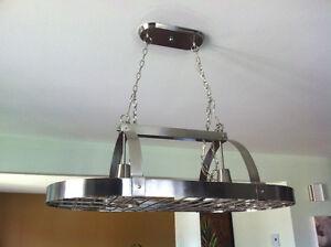 Rack à chaudrons éclairé SS/Lighted pot rack SS