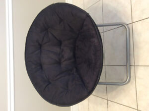 Black Folding  Tub Chair