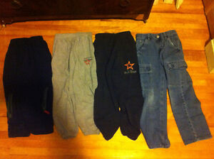 Boys 3 sweat pants jeans and a sweat jacket Size 7/8