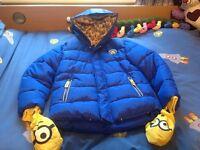 Blue & Yellow Minion Coat.