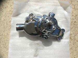 SBCHEV 350 High Volume Aluminum Short Water Pump Chrome