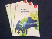 Grade 2, 3 and 4 Piano Exam Piece Books