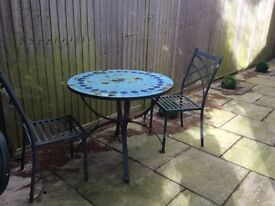 Garden Table & Two Chairs