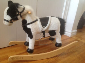 Toy Rocking Horse (with battery sounds and head/tail movement)