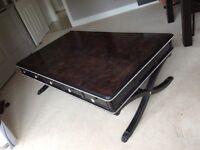 Black diamanté encrusted coffee table