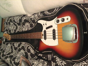1960s Mansfield fender tele lawsuit bass in mint condition