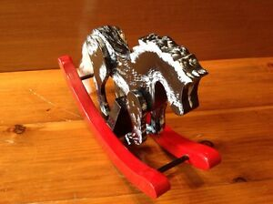 Handcraft Rocking Horse wooden Holiday decoration Windsor Region Ontario image 4
