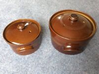 Two Earthenware Casserole Dishes, Cookware, Oven to Table