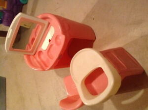 Pink Vanity and Highchair