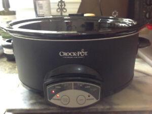 """Crock*Pot"" Oval Programmable SLOW COOKER - SCVP550H 6.5 QT"