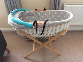 Baby K Mylene Klass Moses basket bassinet Mothercare with stand