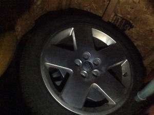 Michelin X Ice 255/45 R18 Audi A8 Snow tires and OEM Rims