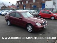 2001 Y Mercedes C Class C180 2.0 Classic AUTOMATIC 4DR Saloon RED + LOW MILES