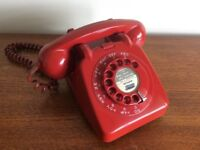 Vintage 1950's/60's GPO 706 Telephone in sought after Red.